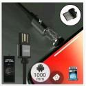 ΜΑΓΝΗΤΙΚΟ ΚΑΛΩΔΙΟ Micro Usb 1m WK Magnetic Black WDC-046
