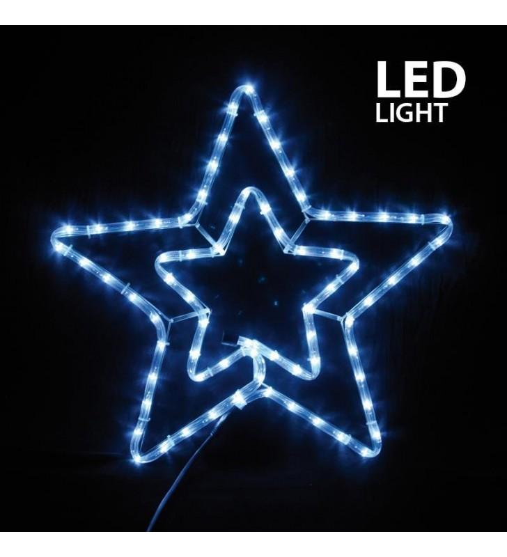 ΑΣΤΕΡΙ ΔΙΠΛΟ ΛΕΥΚΟ LED, ΜΕ ΠΡΟΓΡΑΜΜΑ, ΜΕ 3 Μ. ΦΩΤ/ΝΑ, 55X56 ΕΚ. IP44 - (600-20210)