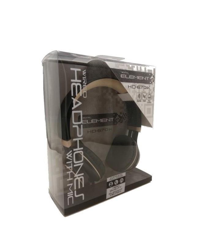 Ακουστικά Κεφαλής με μικρόφωνο, Headphone Element HD-670-K