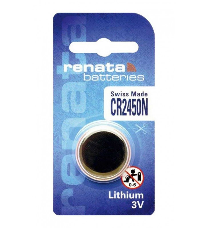 ΜΠΑΤΑΡΙΑ ΛΙΘΙΟΥ 3v Buttoncell Lithium Electronics Renata CR2450N 1τεμ