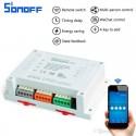 Original Sonoff 4CH - Έξυπνος Ασύρματος Διακόπτης Wifi 4 Καναλιών, Για Κινητά Android/IOS