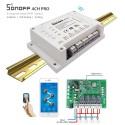 Original Sonoff 4CH PRO - Έξυπνος Ασύρματος Διακόπτης Wifi 4 Καναλιών, Για Κινητά Android/IOS