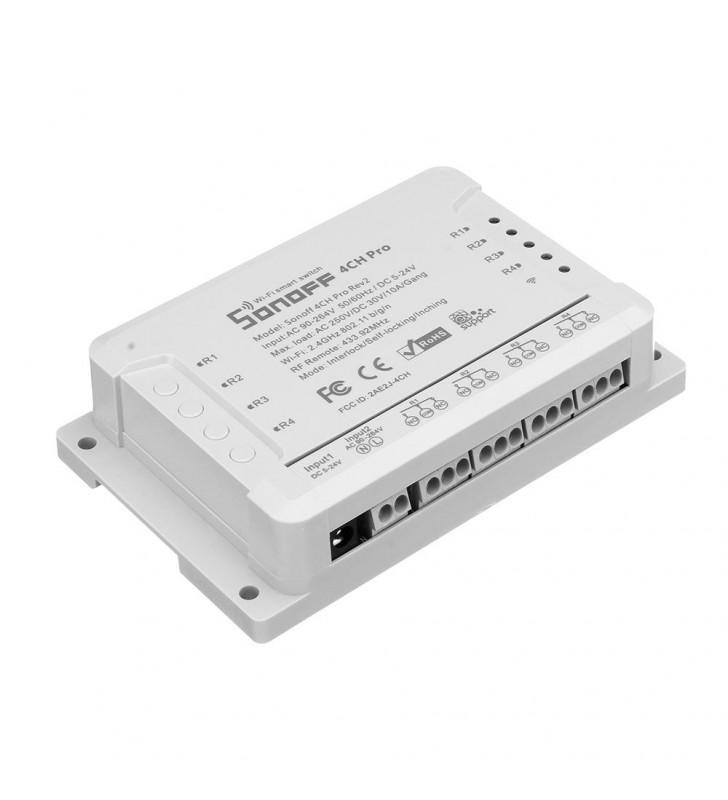 Original Sonoff 4CH PRO R2 - Έξυπνος Ασύρματος Διακόπτης Wifi 4 Καναλιών, Για Κινητά Android/IOS
