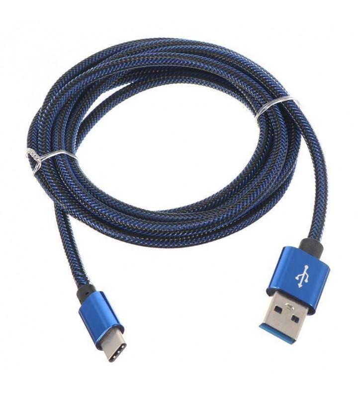 ΚΑΛΩΔΙΟ USB 2.0 σε Type-C Fast Charging 2.1A - Data, 1m ΜΠΛΕ (Bulk)