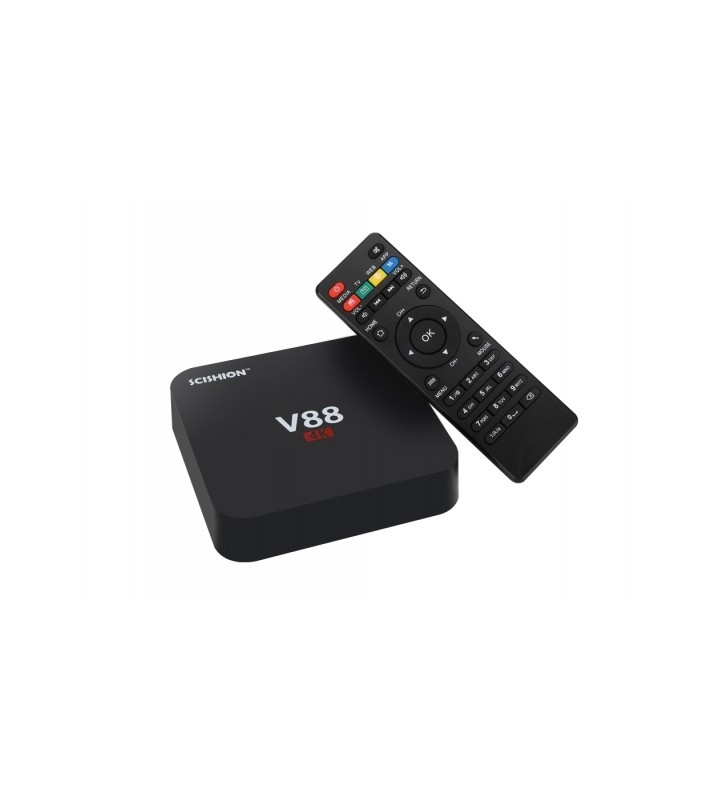 Android TV Box SCISHION V88 4K 1GB/8GB, Rockchip 3229 Quad Core