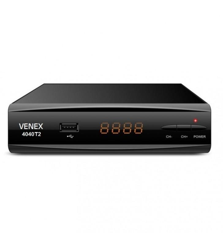 ΕΠΙΓΕΙΟΣ ΨΗΦΙΑΚΟΣ ΔΕΚΤΗΣ DVB-Τ2 ΜΕ ΟΘΟΝΗ & ΠΛΗΚΤΡΑ, VENEX-4040Τ2