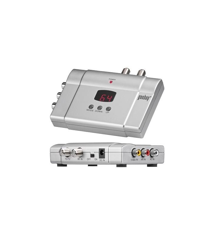 GoodBay HF-2 Modulator στερεοφωνικό με LED Display VHF: 2.. 4-5.. 12, S Band: S11-S41, UHF: 21-69