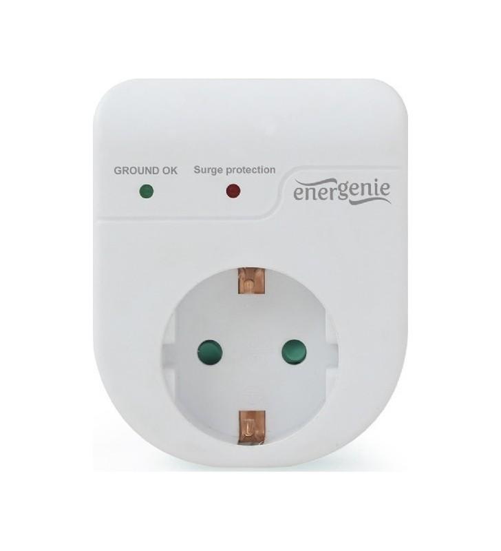 Πρίζα προστασίας υπέρτασης Λευκή ENERGENIE EG-SPG1-01-W