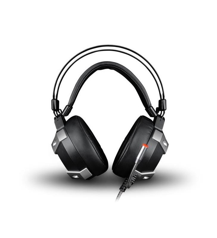 Ακουστικά Κεφαλής με μικρόφωνο, Headphone ZeroGround USB 7.1 HD-2500G IKEDA