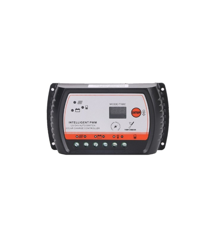 Ρυθμιστής Φόρτισης PWM Φωτοβολταϊκού 12V / 24V 10A με USB Output, Steady Power LCD2420A-10