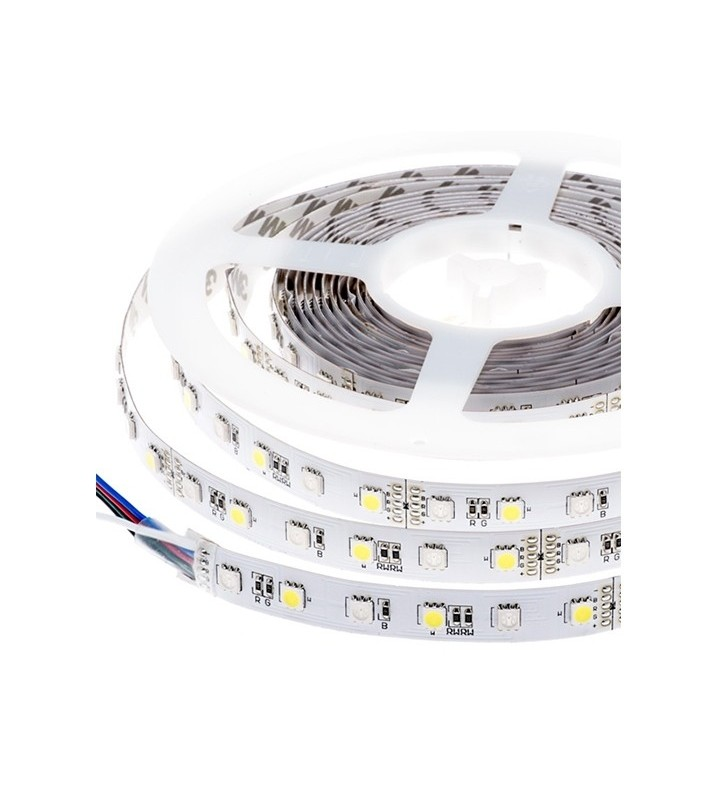 LED ΤΑΙΝΙΑ 14.4 watt 60 smd 5050 Led RGB+W Optonica