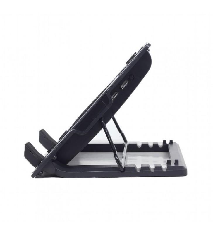 """Laptop Cooler Stand με ρύθμιση υψους 17"""" GEMBIRD (NBS-1F17T-01)"""