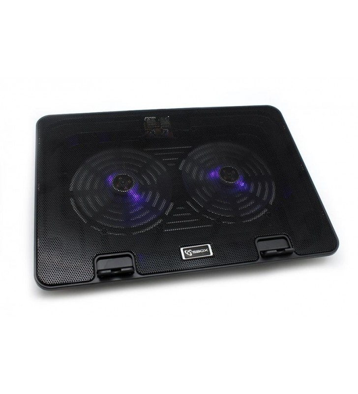 "Laptop Cooler USB 15,6"" BLUE LED FAN 140 mm SBOX (CP-19)"