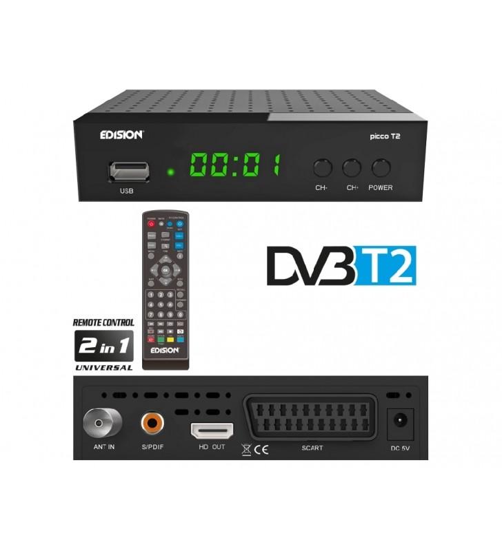 Επίγειος Ψηφιακός αποκωδικοποιητής H.264, MPEG4, Full HD DVB-T2 EDISION PICCO T2