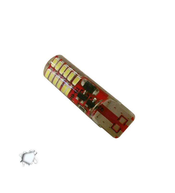 Λαμπτήρας T10 24 SMD Σιλικόνης Ψυχρό Strobe GloboStar 08340