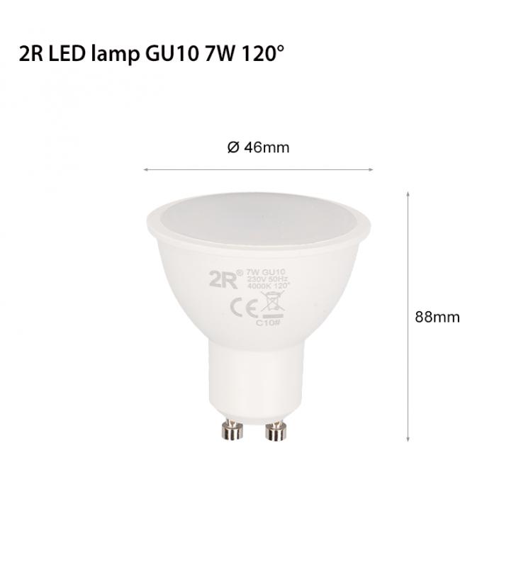 Λαμπτήρας LED Spot GU10 7W 3000K (ΘΕΡΜΟ) 120o 560Lm 2R (2RGU10S730N)