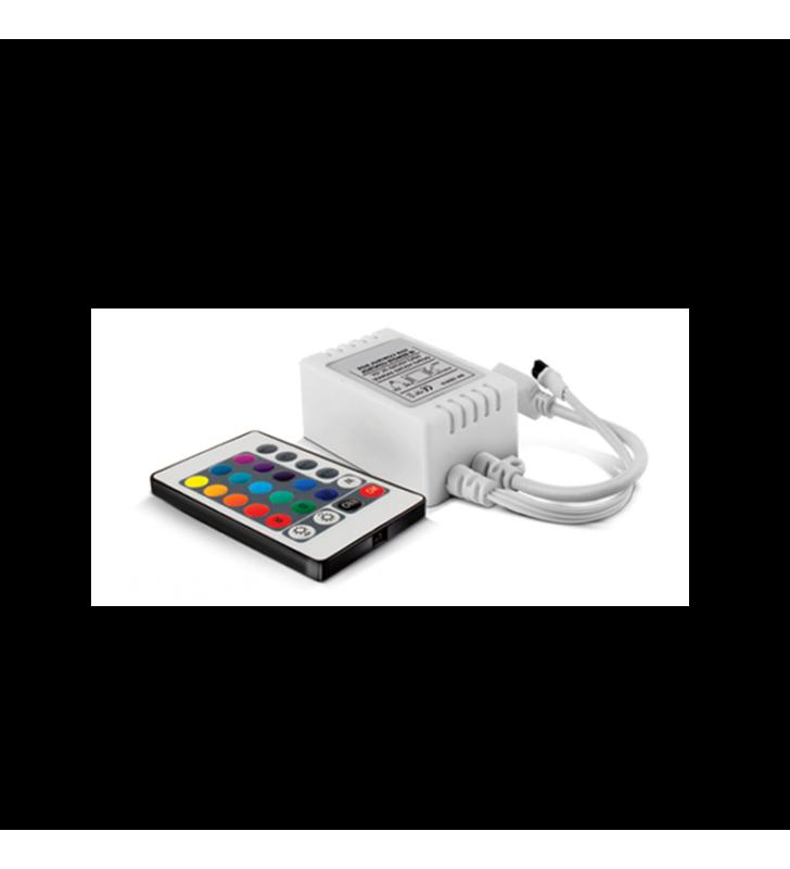 Ασύρματο Χειριστήριο IR (controller) για ταινία Led RGB 72w με 24 πλήκτρα PLCONTRGB24