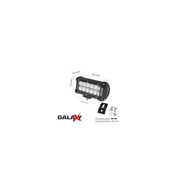 Προβολέας Led 36W 12V/24V 6000K (ΨΥΧΡΟ) 2700Lm Στεγανός IP67 GALAXY LBL C 2R (LBLC36)