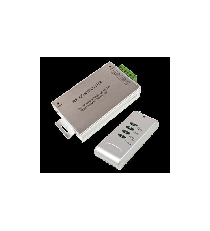 Ενισχυτής Σήματος & controller RF 180W για ταινία Led RGB με 4 πλήκτρα Braytron BY30-01110
