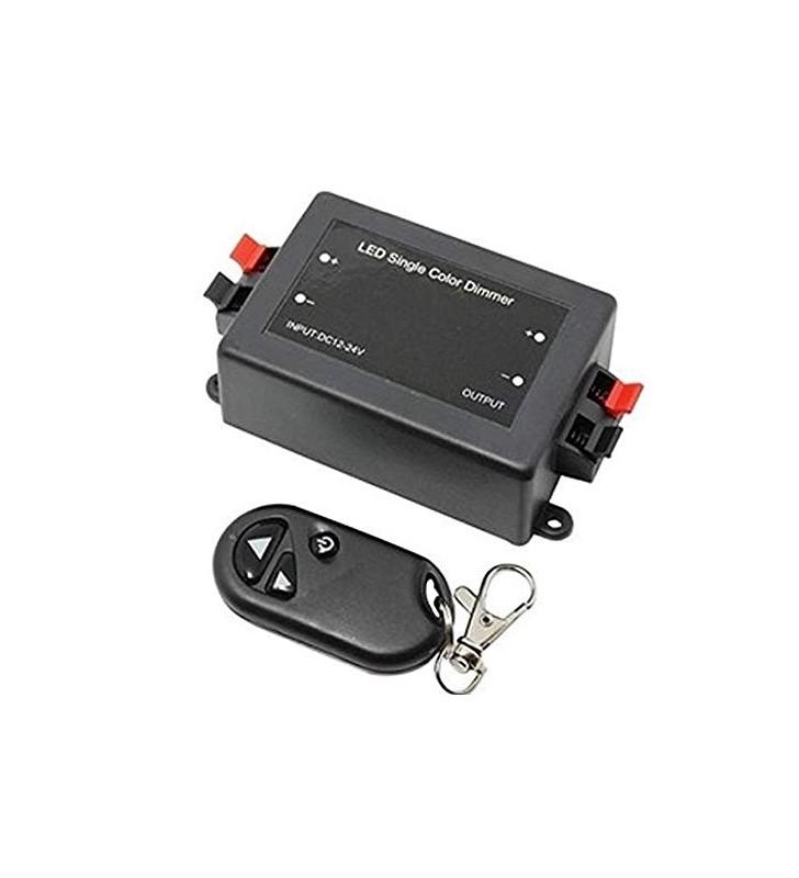 Ασύρματο Dimmer RF με τηλεκοντρόλ 12V 8A 96W για ταινίες Led (ELDIM 96)