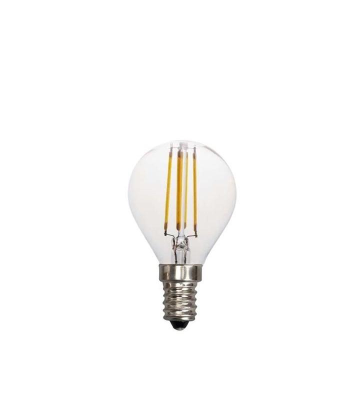ΛΑΜΠΑ LED EDISON ΣΦΑΙΡΙΚΗ FILAMENT 4W E14 2700K 220-240V - (147-80922) EUROLAMP