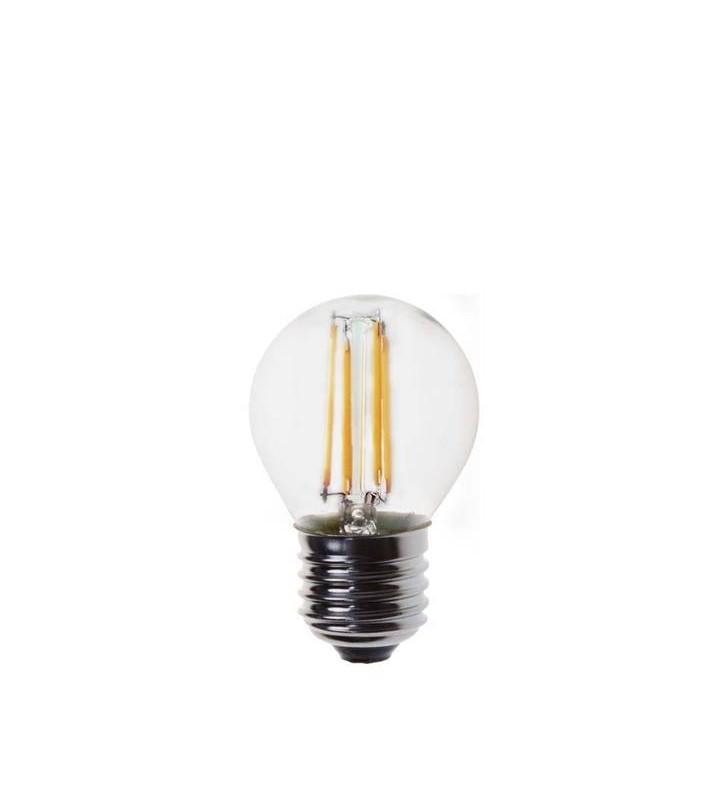 ΛΑΜΠΑ LED EDISON ΣΦΑΙΡΙΚΗ FILAMENT 4W E27 2700K 220-240V - (147-80923) EUROLAMP