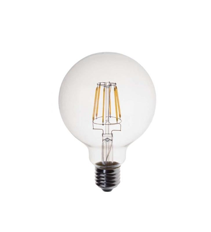 ΛΑΜΠΑ LED EDISON ΓΛΟΜΠΟΣ G95 FILAMENT 8W Ε27 2200K 220-240V DIMMABLE - (147-81461) EUROLAMP