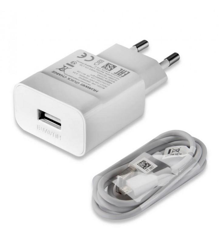 HUAWEI Φορτιστής τοίχου USB σε Micro USB, 2A, 1m, λευκό (HW-059200EHQ)