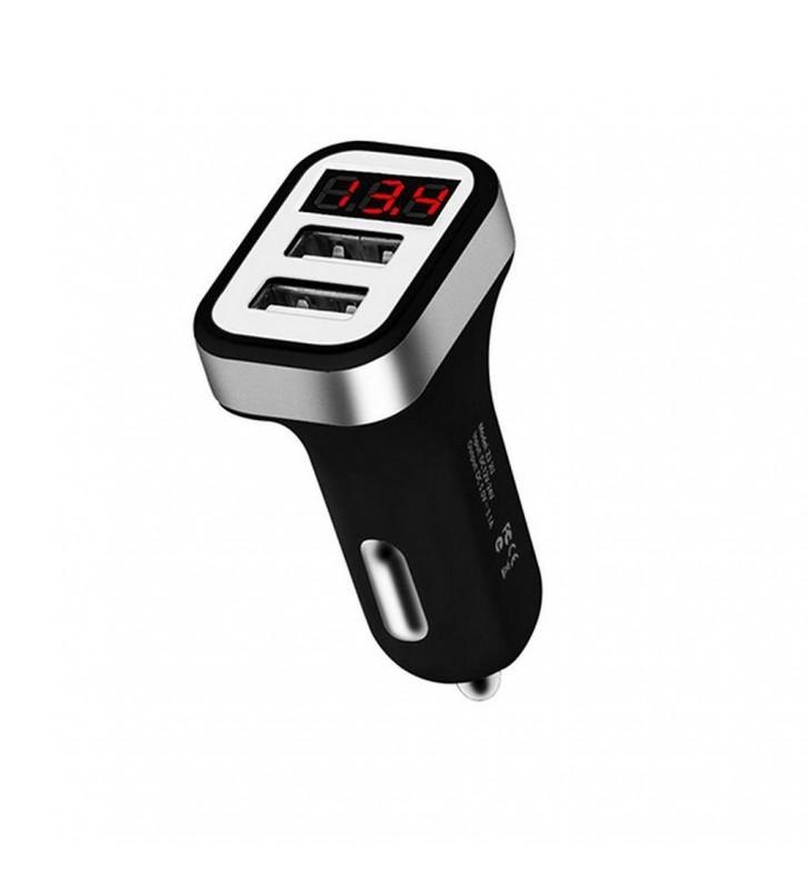 Φορτιστής Αυτοκινήτου Hoco Z3 Dual USB Fast Charging 5V/3.1A και Είσοδο 12/24V Μαύρος