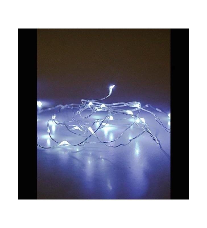 ΣΕΙΡΑ ΜΠΑΤΑΡΙΑΣ, 20 LED ΛΕΥΚΑ ΜΕ ΑΣΗΜΙ ΧΑΛΚΟ, ΑΝΑ 10 ΕΚ, IP20. - (600-11220)