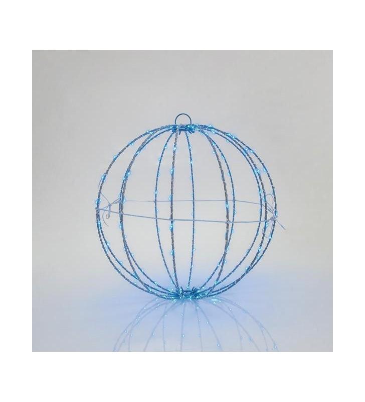 ΦΩΤΙΖΟΜΕΝΗ ΜΠΑΛΑ,ΜΠΛΕ, 144 LED, 30CM - (600-22407)