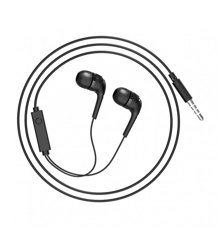 Hands Free Hoco M40 Prosody Earphones Stereo 3.5mm Μαύρα με Μικρόφωνο και Πλήκτρο Λειτουργίας