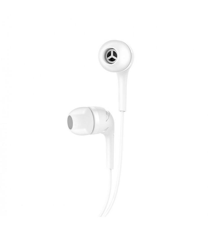 Hands Free Hoco M40 Prosody Earphones Stereo 3.5mm Λευκά με Μικρόφωνο και Πλήκτρο Λειτουργίας