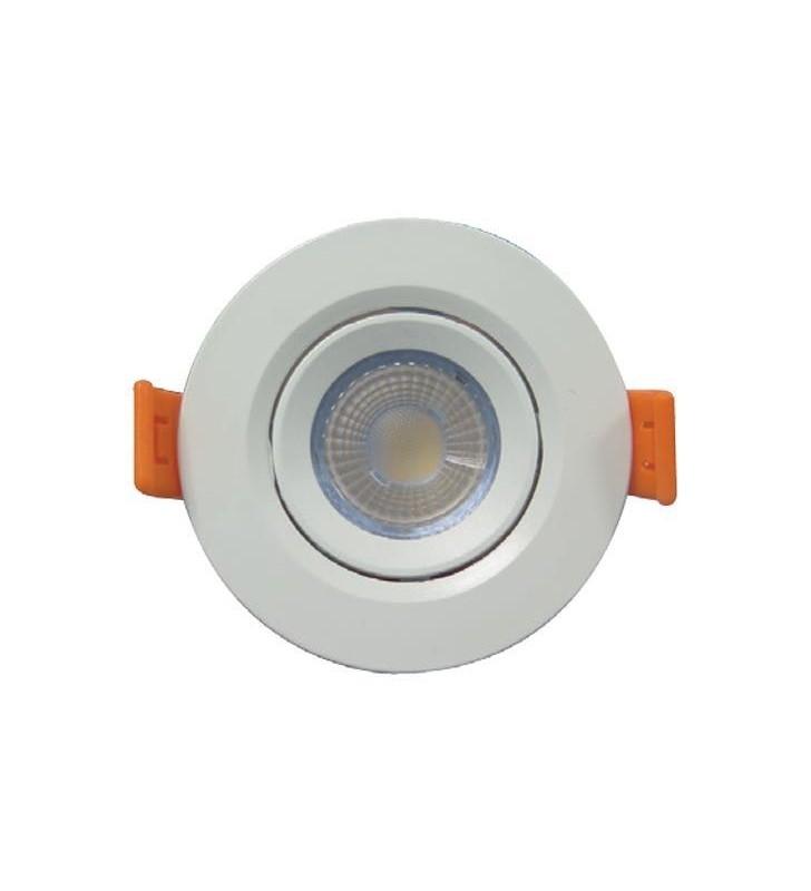 ΣΠΟΤ ΧΩΝΕΥΤΟ LED SMD ΠΛΑΣΤΙΚΟ Φ75 3W 6500K IP20 - (145-65002) FERRARA