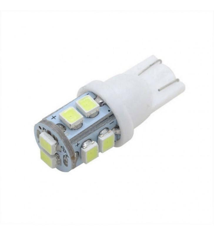 ΛΑΜΠΑΚΙ ΑΥΤΟΚΙΝΗΤΟΥ Led T10 W5W με 10 LED SMD 6500k (ΨΥΧΡΟ)