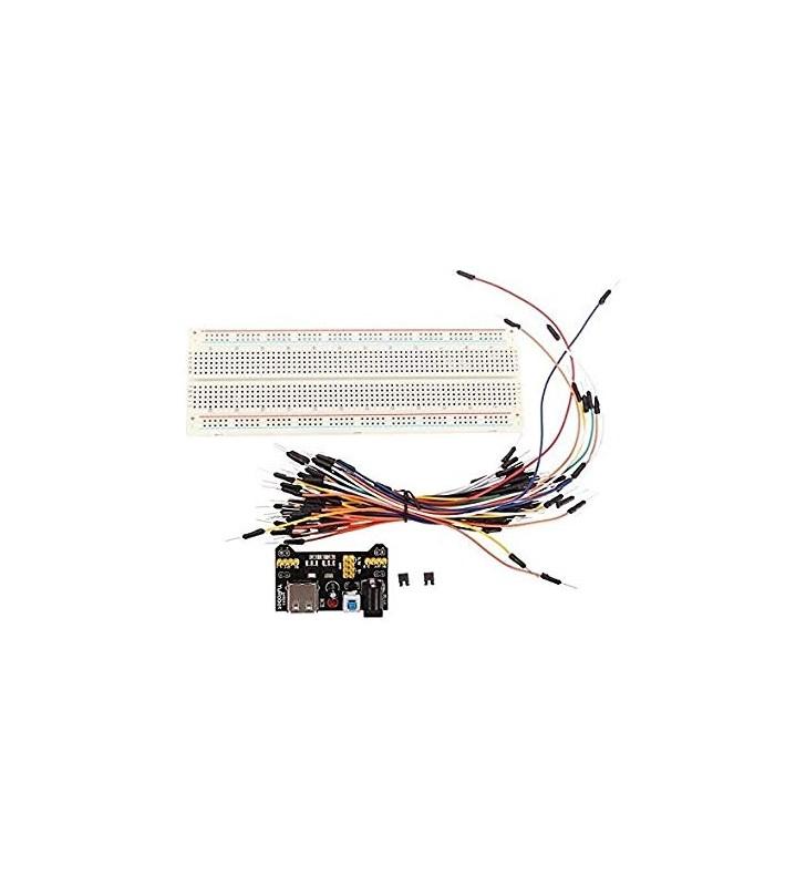 Solderless Breadboard με Τροφοδοτικό και Καλώδια σύνδεσης, Geekcreit® MB-102