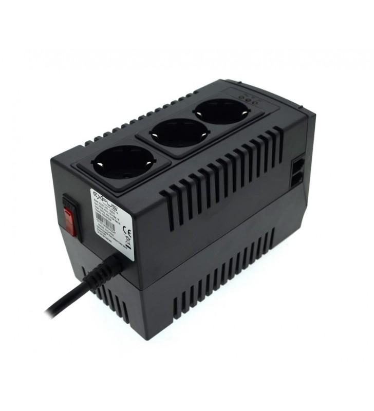 Αυτόματος Σταθεροποιητής Τάσης Ρεύματος Noozy 1500VA 750W με Προστασία Υπερθέρμανσης