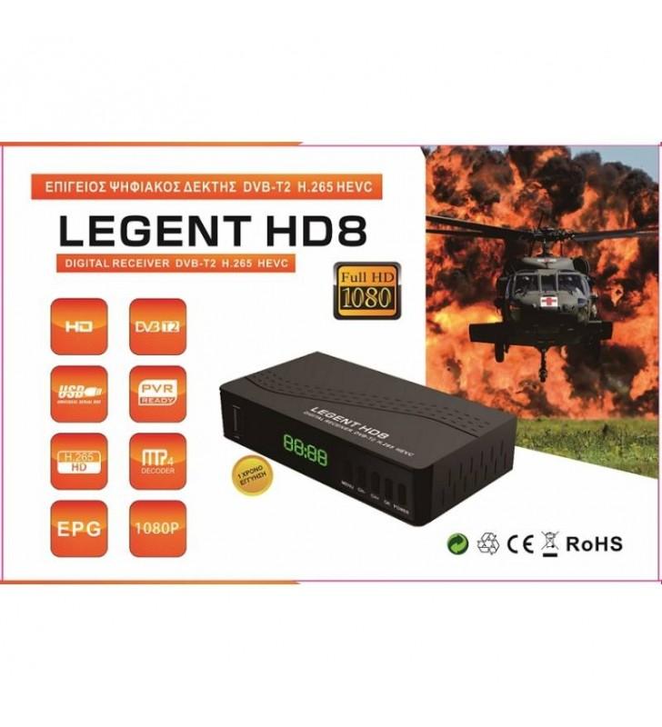 ΕΠΙΓΕΙΟΣ ΨΗΦΙΑΚΟΣ ΔΕΚΤΗΣ LEGENT HD8 FULL HD, DVB-T2 H.265 HEVC