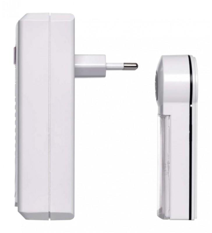 Ασύρματο κουδούνι εξώπορτας IP44, 60m εμβέλεια, λευκό (EMS-P5705) EMOS