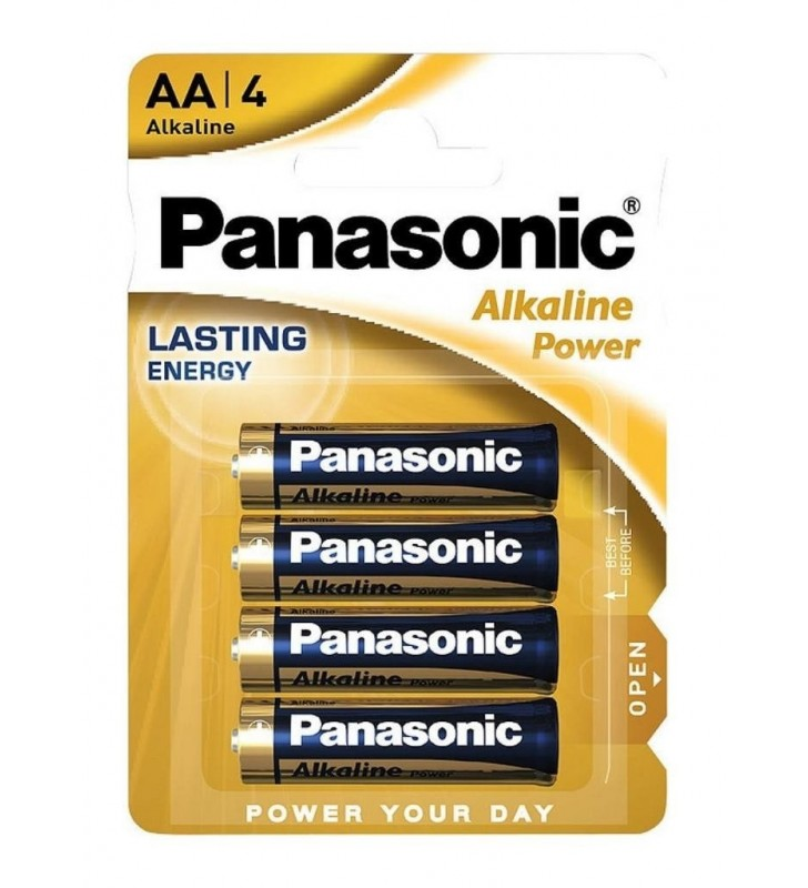 ΑΛΚΑΛΙΚΗ ΜΠΑΤΑΡΙΑ Panasonic Alcaline Power LR6APB/4BP size AA 1.5 V Τεμ. 4