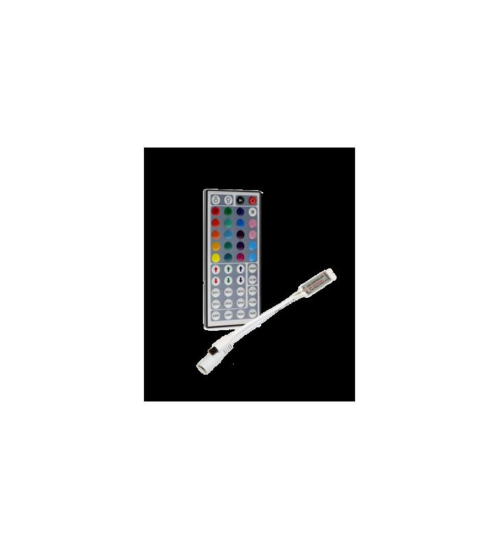 Ασύρματο Χειριστήριο IR Mini Controller για ταινία Led RGB 12v 3x2A 72w, 44 πλήκτρα 2R (2RCONTMINI)