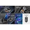Mini ΤαχυΦορτιστής Αυτοκινήτου USB, Baseus LED Mini QC4.0 PD3.0 - 30W 12-24V Type-C Fast Charging