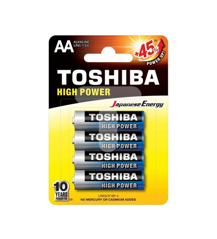 ΜΠΑΤΑΡΙΑ TOSHIBA HIGH POWER +45% AA - LR6GCP BP-4, 4Τεμ.