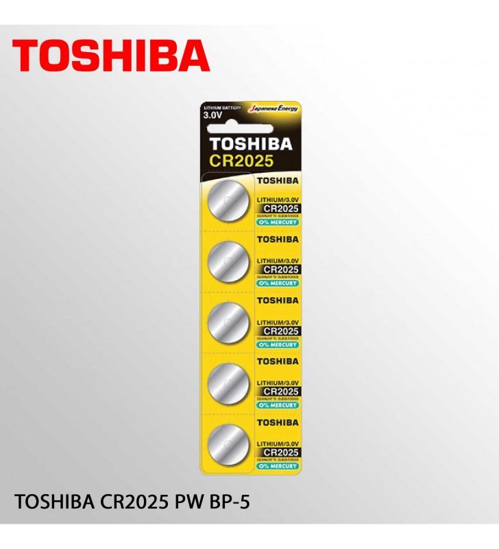 ΜΠΑΤΑΡΙΑ ΛΙΘΙΟΥ TOSHIBA CR2025 - BP-5 (Τιμή 1 τμχ.)