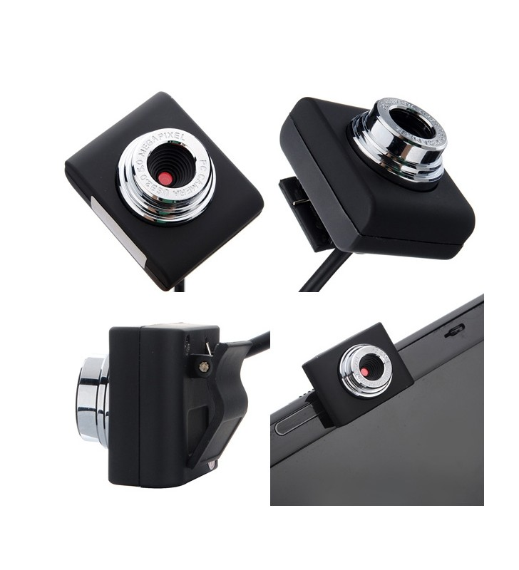 Web Camera 0.3MP, Video, με κλιπ, Black PT-507 POWERTECH