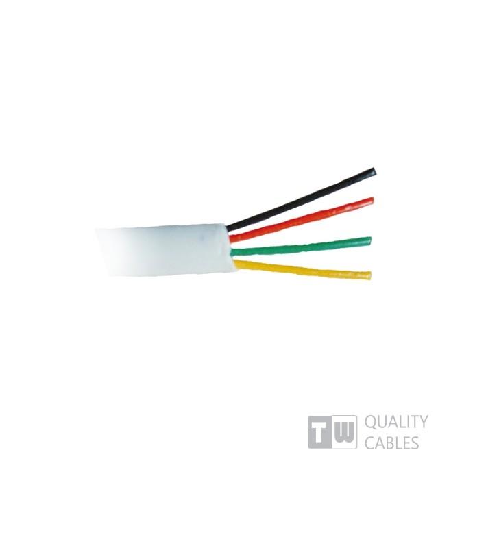 ΚΑΛΩΔΙΟ Τηλεφωνικο 100m Λευκό Πλακέ Εύκαμπτο 4 Αγωγ