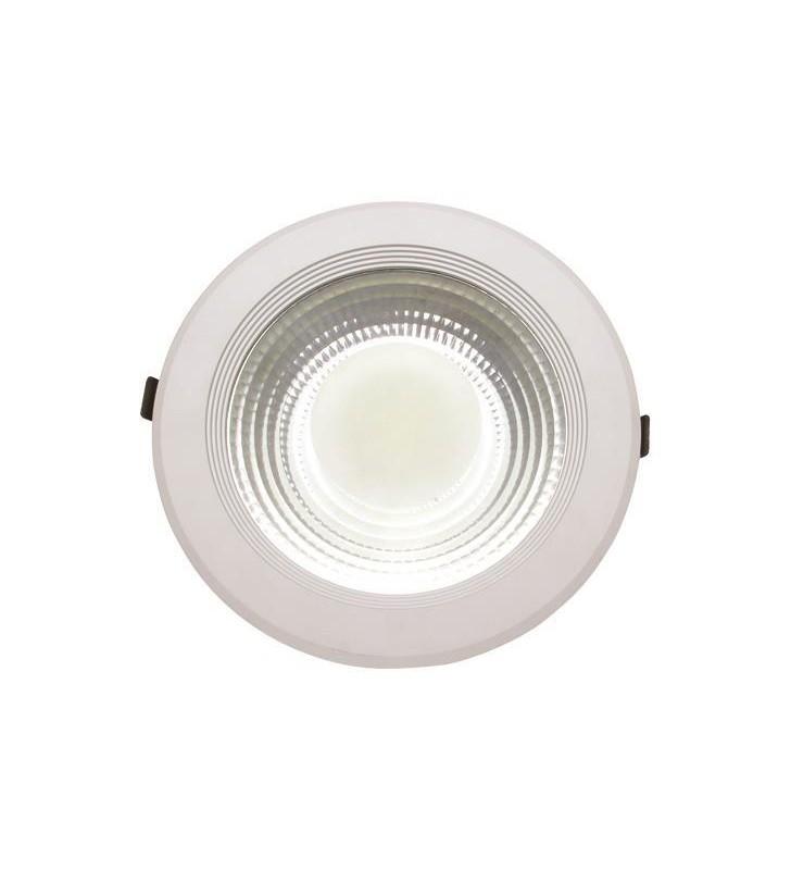 ΦΩΤΙΣΤΙΚΟ COB LED ΧΩΝΕΥΤΟ Φ220 30W 6500K AC170-265V ΛΕΥΚΟ PLUS - (145-68201) EUROLAMP