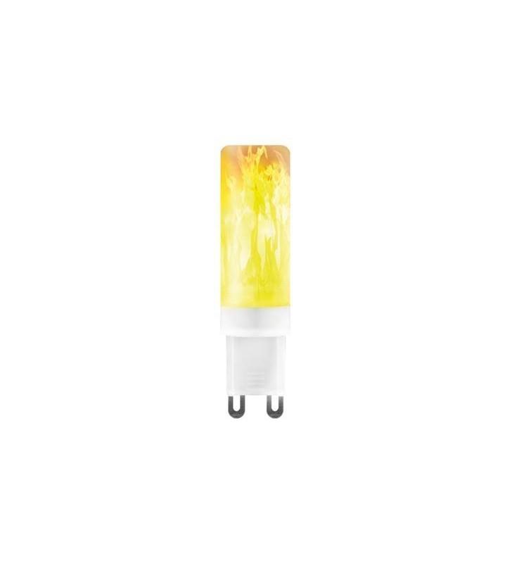 ΛΑΜΠΑ LED G9 SMD ΦΛΟΓΑ 0.8W 1500K 220-240V - EUROLAMP (147-81950)
