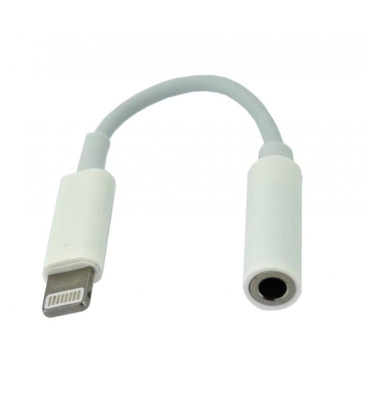 Αντάπτορας Handsfree Apple Lightning σε 3.5 mm Θηλυκό Λευκό Bulk (25927)