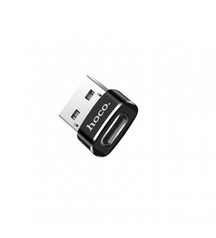 Αντάπτορας Hoco UA6 USB σε Type-C Μαύρο